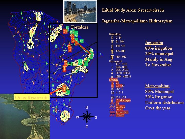 Initial Study Area: 6 reservoirs in # # # # # # # #