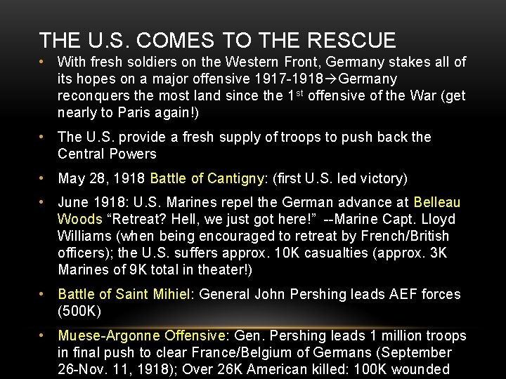 THE U. S. COMES TO THE RESCUE • With fresh soldiers on the Western