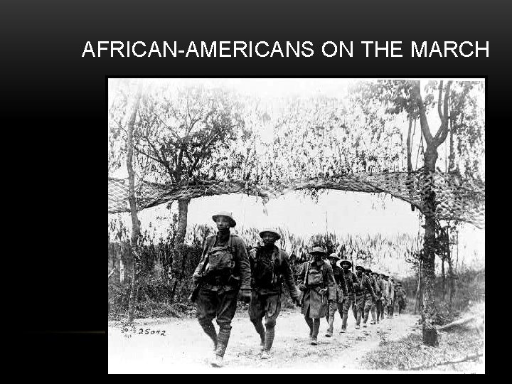 AFRICAN-AMERICANS ON THE MARCH