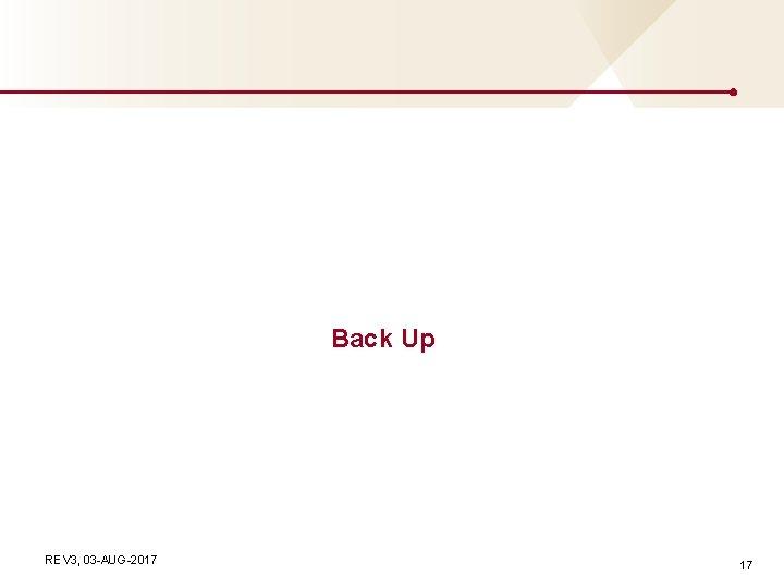Back Up REV 3, 03 -AUG-2017 17