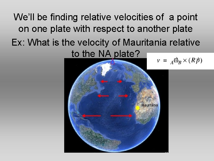 We'll be finding relative velocities of a point on one plate with respect to