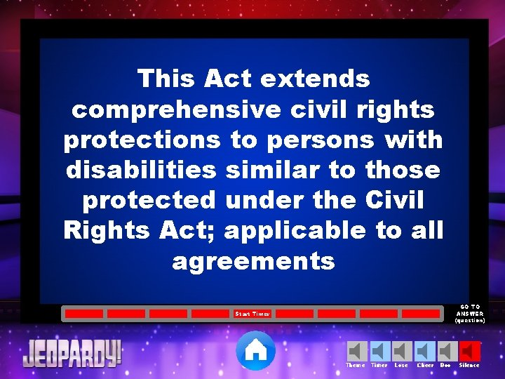 This Act extends comprehensive civil rights protections to persons with disabilities similar to those