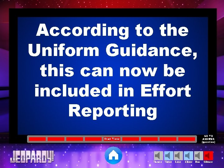 According to the Uniform Guidance, this can now be included in Effort Reporting GO