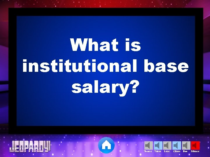 What is institutional base salary? Theme Timer Lose Cheer Boo Silence