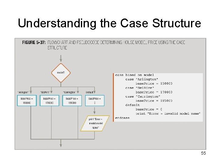 Understanding the Case Structure 55