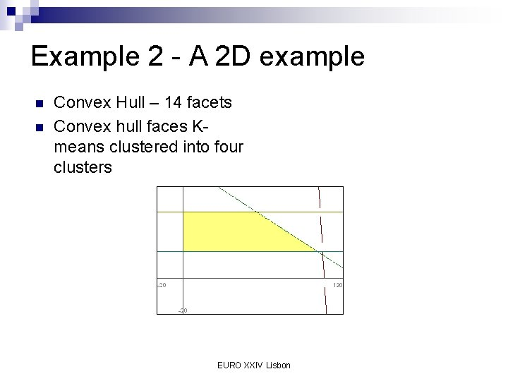 Example 2 - A 2 D example n n Convex Hull – 14 facets