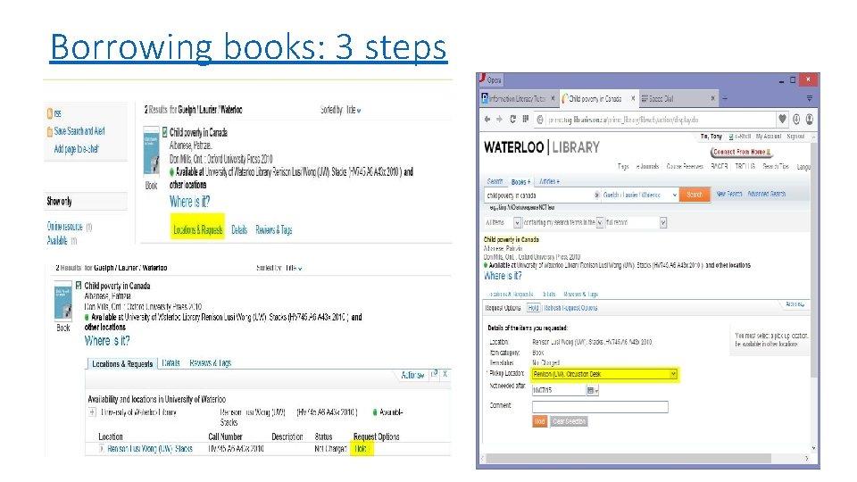 Borrowing books: 3 steps