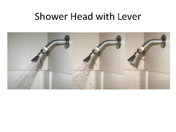 Shower Head with Lever