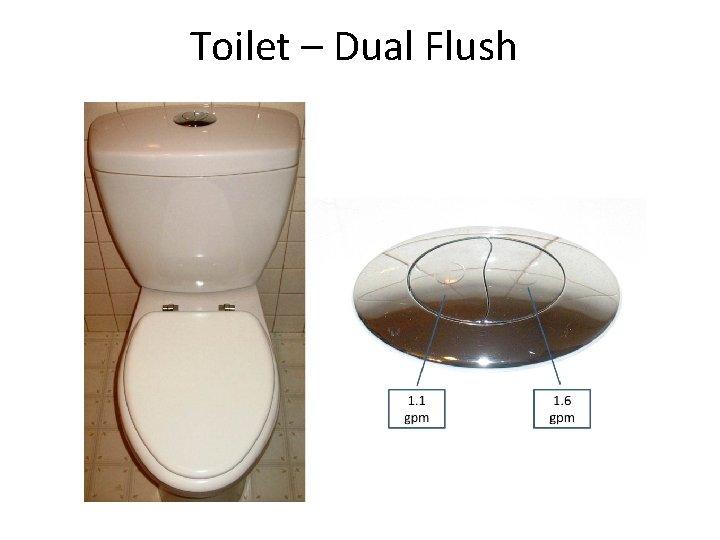 Toilet – Dual Flush