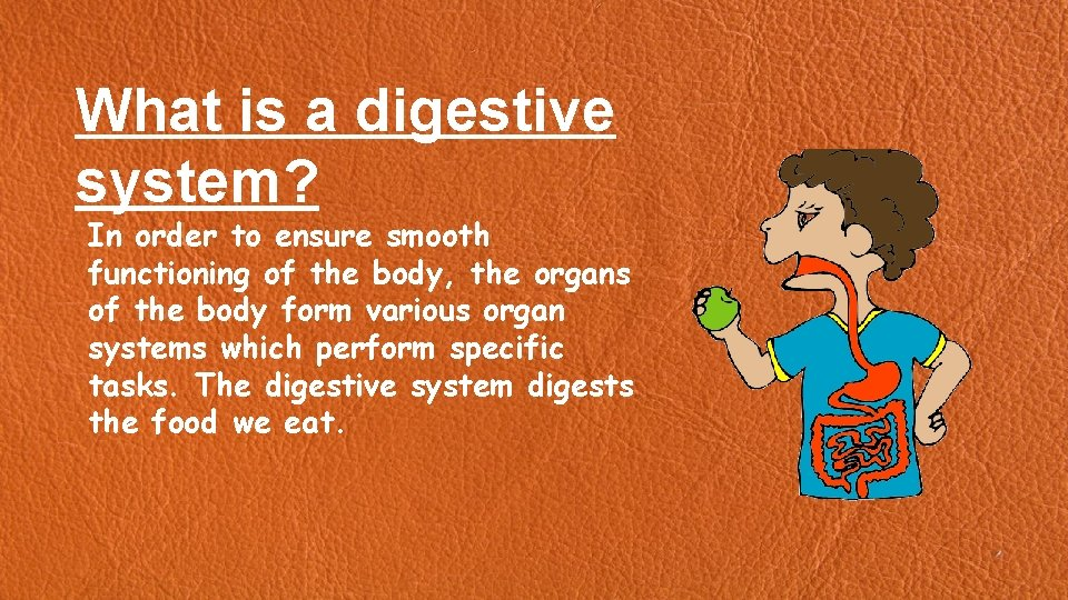 What is a digestive system? In order to ensure smooth functioning of the body,