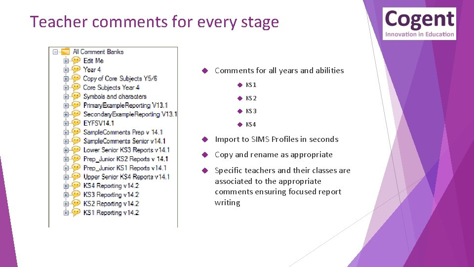 Teacher comments for every stage Comments for all years and abilities KS 1 KS