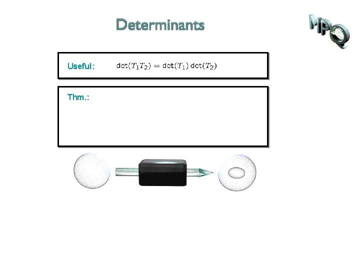 Useful: Thm. :