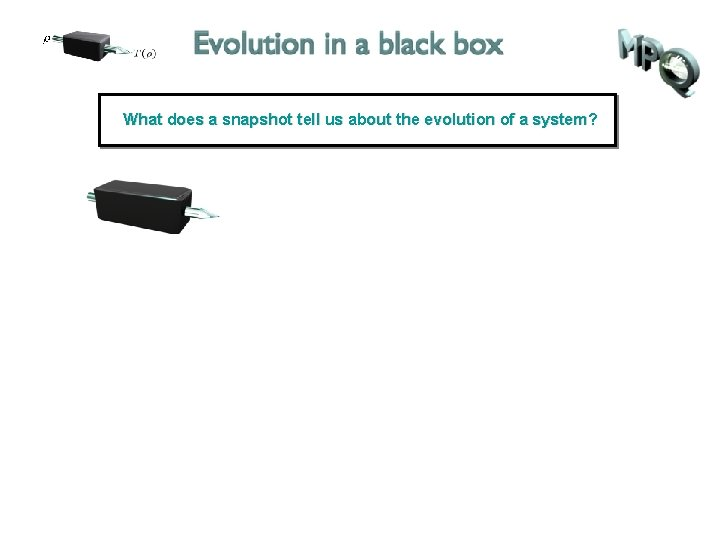 What does a snapshot tell us about the evolution of a system?