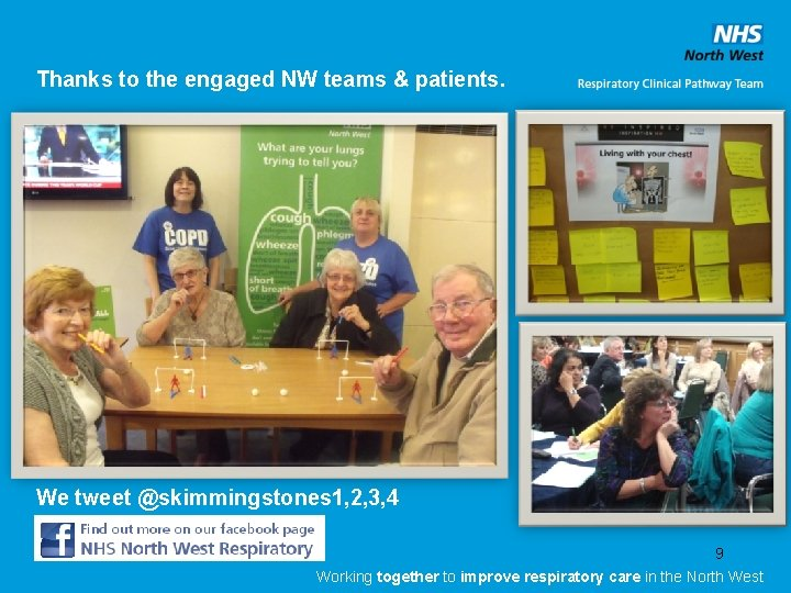 Thanks to the engaged NW teams & patients. We tweet @skimmingstones 1, 2, 3,