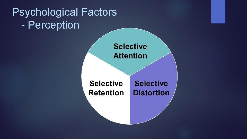 Psychological Factors - Perception