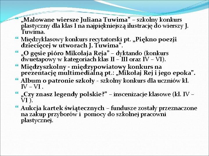 """""""Malowane wiersze Juliana Tuwima"""" – szkolny konkurs plastyczny dla klas I na najpiękniejszą"""