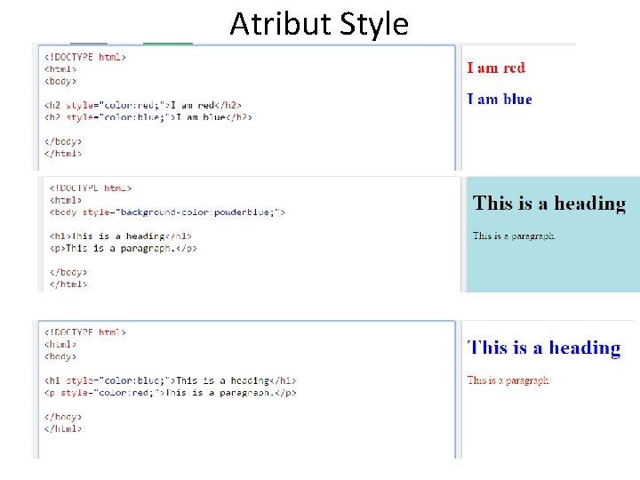 Atribut Style