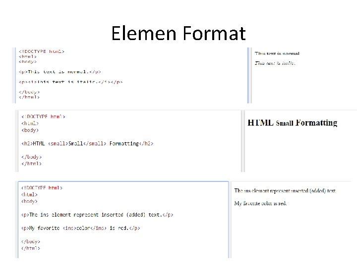 Elemen Format