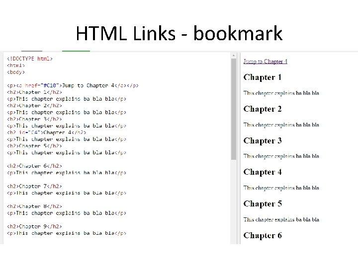HTML Links - bookmark