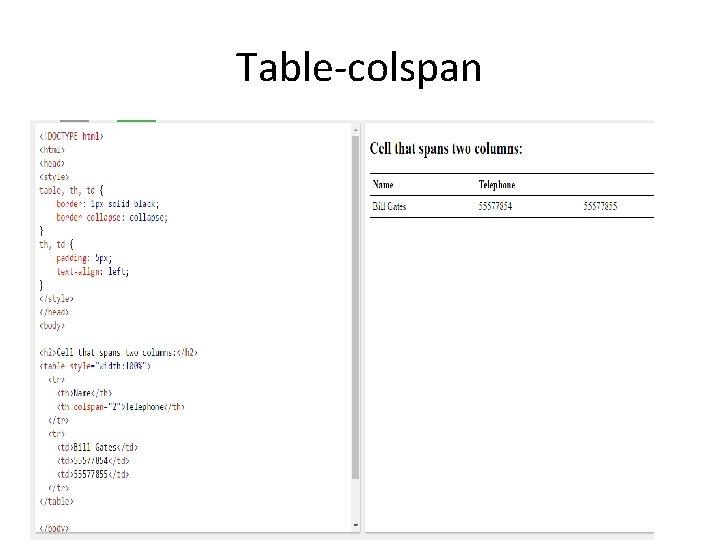 Table-colspan