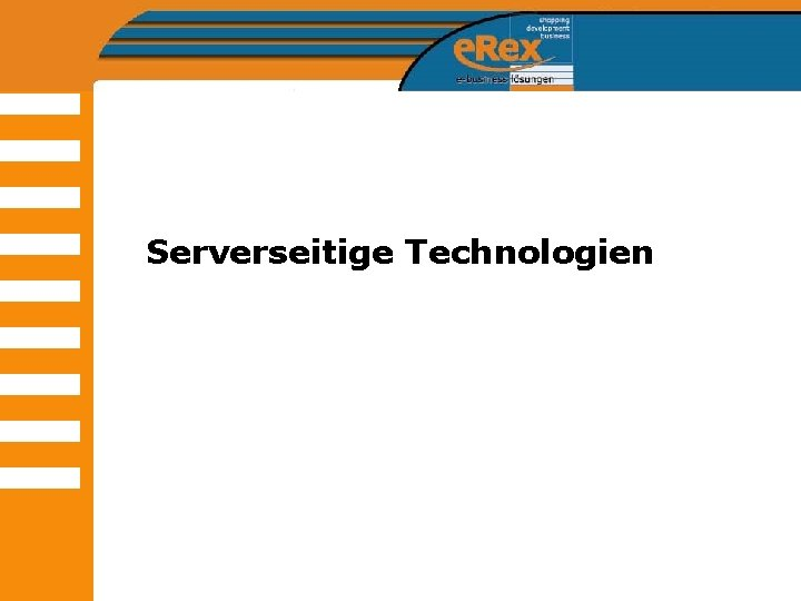 Serverseitige Technologien
