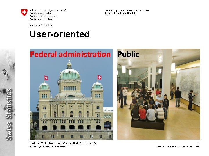 Federal Department of Home Affairs FDHA Federal Statistical Office FSO User-oriented Federal administration Public