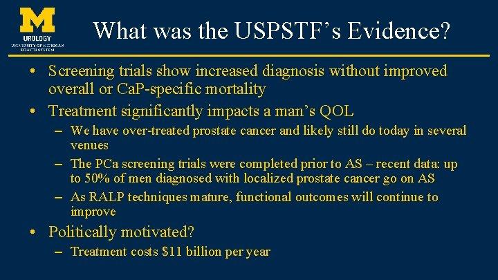 university of michigan prostate cancer test