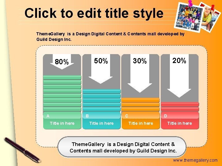 Click to edit title style Theme. Gallery is a Design Digital Content & Contents