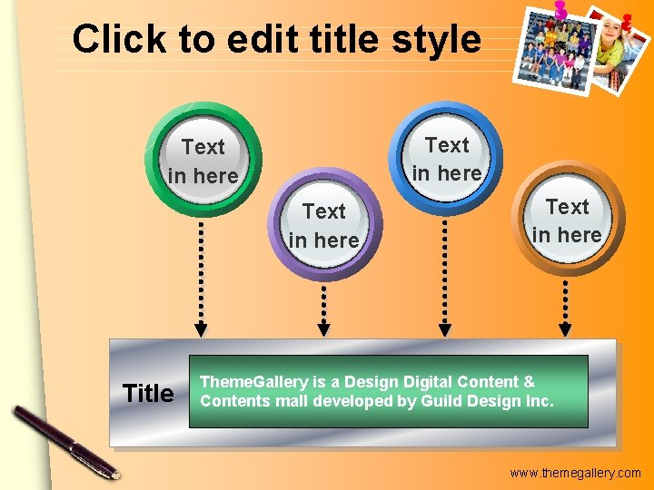 Click to edit title style Text in here Title Text in here Theme. Gallery