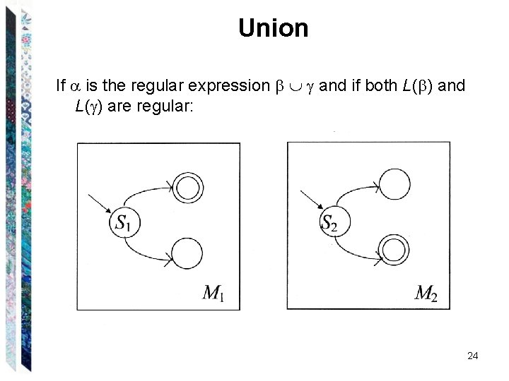 Union If is the regular expression and if both L( ) and L( )