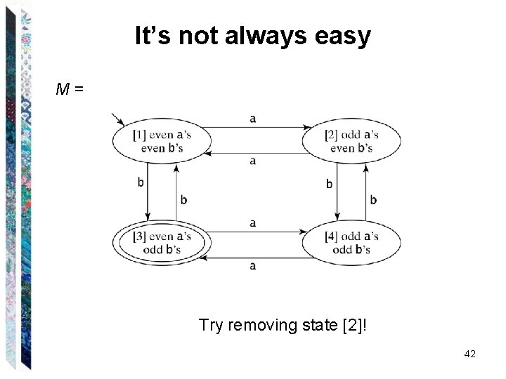 It's not always easy M= Try removing state [2]! 42