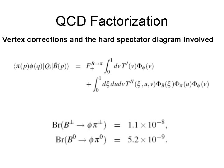 QCD Factorization Vertex corrections and the hard spectator diagram involved