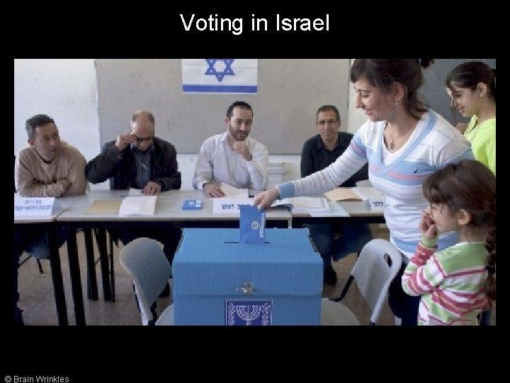 Voting in Israel © Brain Wrinkles