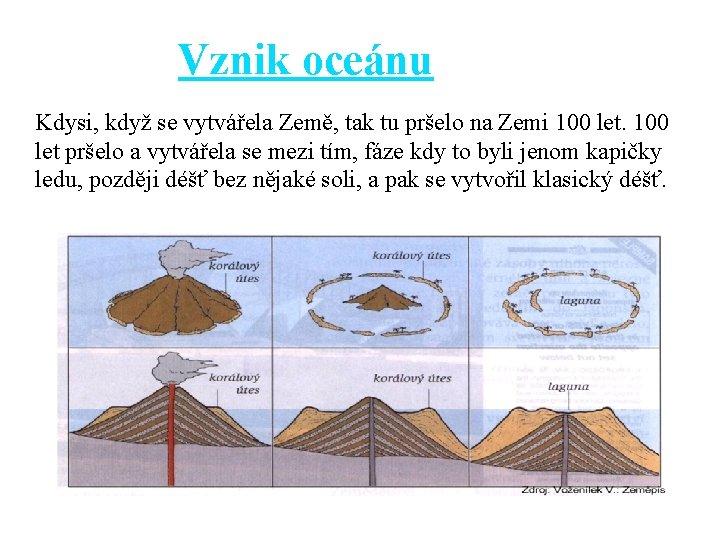 Vznik oceánu Kdysi, když se vytvářela Země, tak tu pršelo na Zemi 100 let