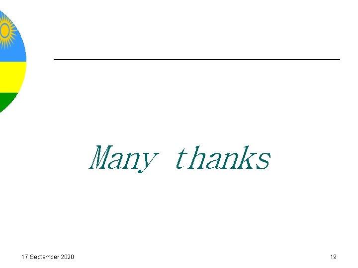 Many thanks 17 September 2020 19