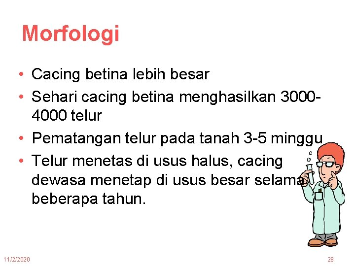 definirea helmintologiei)