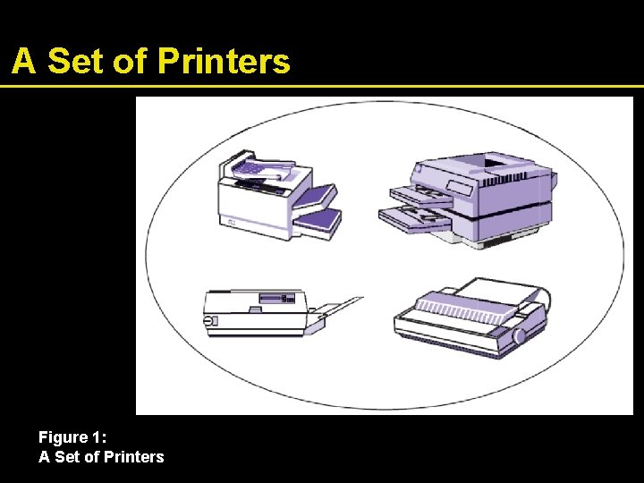 A Set of Printers Figure 1: A Set of Printers