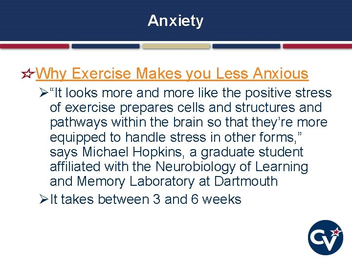 """Anxiety Why Exercise Makes you Less Anxious Ø""""It looks more and more like the"""