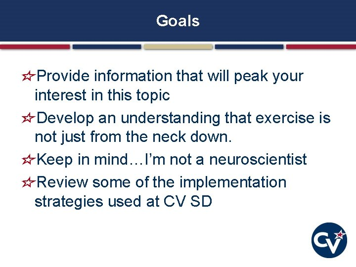 Goals Provide information that will peak your interest in this topic Develop an understanding