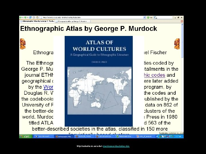 http: //eclectic. ss. uci. edu/~drwhite/worldcul/atlas. htm
