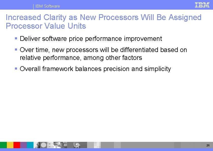IBM Software Increased Clarity as New Processors Will Be Assigned Processor Value Units §