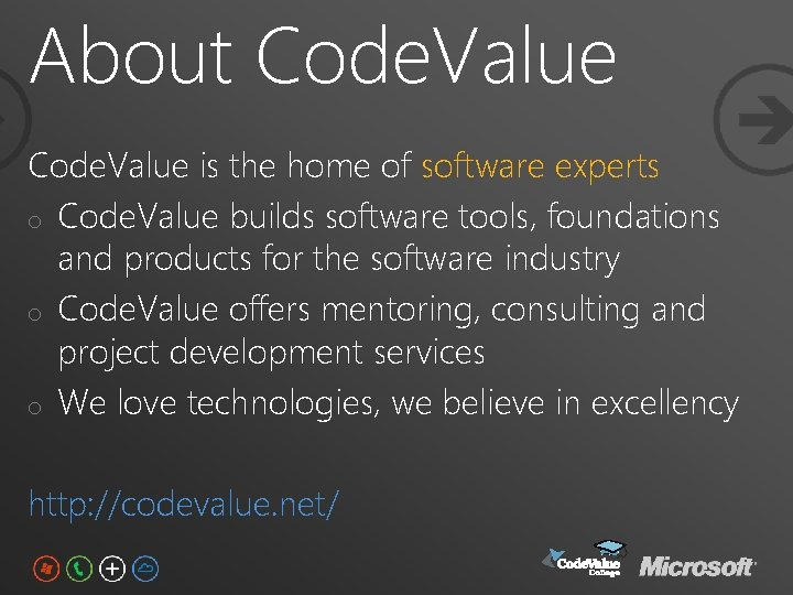 About Code. Value is the home of software experts o Code. Value builds software