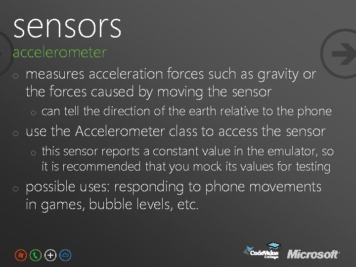 sensors accelerometer o measures acceleration forces such as gravity or the forces caused by