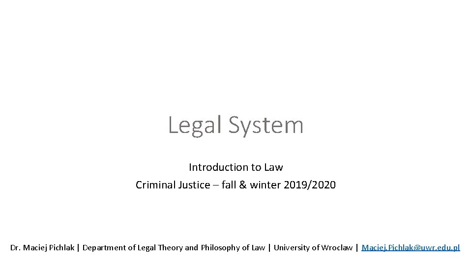 legal system introduction to law criminal justice fall