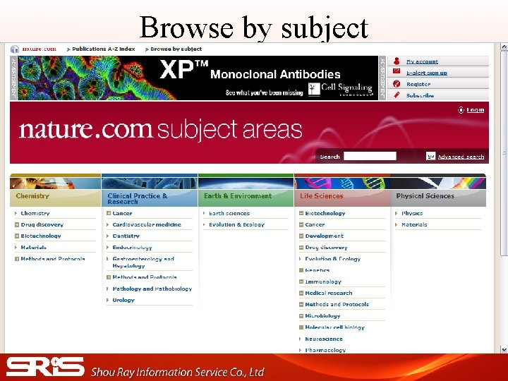 Browse by subject