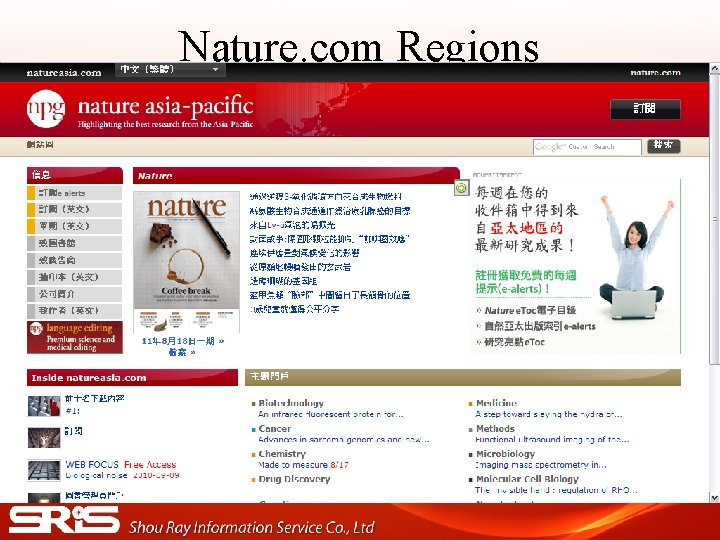 Nature. com Regions