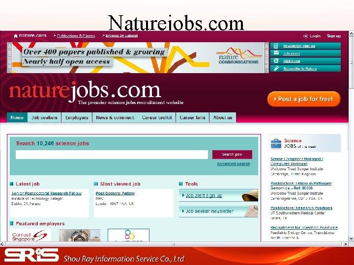 Naturejobs. com
