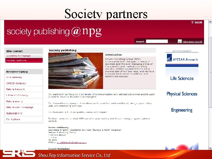 Society partners