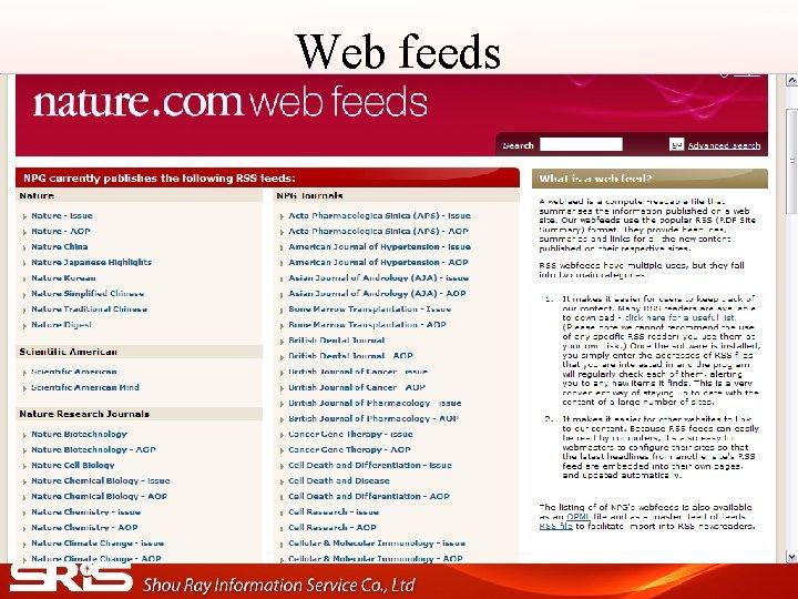 Web feeds