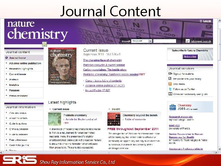 Journal Content